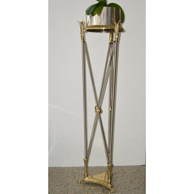 Mid 20th Century Jardinière Stand Pedestal by Maison Jansen For Sale - Image 5 of 12