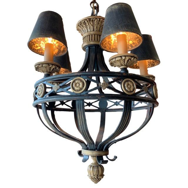 Fine Art Lamps Fine Art Lighting Chandelier Bronze & Gold 5 Lights For Sale - Image 4 of 13
