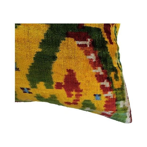 Boho Chic Bohemian Velvet Ikat Pillow For Sale - Image 3 of 5