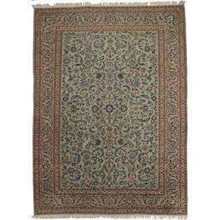 Persian Kashan Wool Rug - 9'9 × 13′4″ For Sale