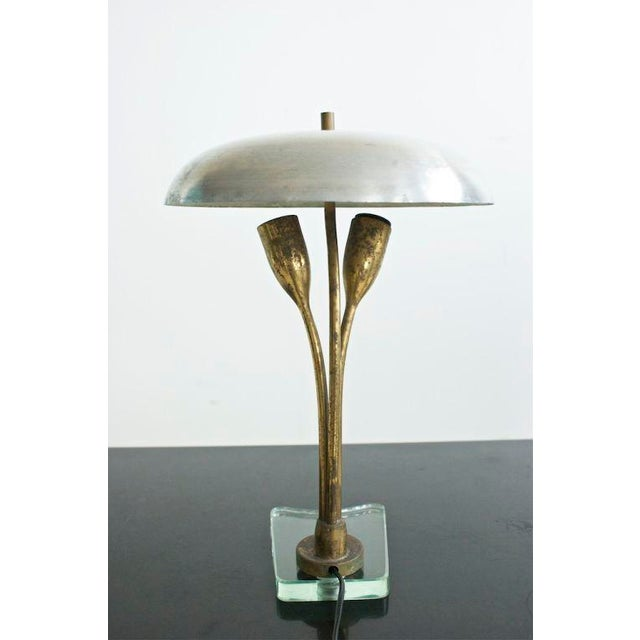 1940s Pair of Tulip Lamps For Sale - Image 5 of 8
