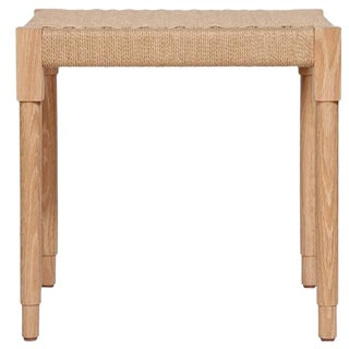 Customizable Stillmade Solid Turned Ash and Paper Cord Stool For Sale