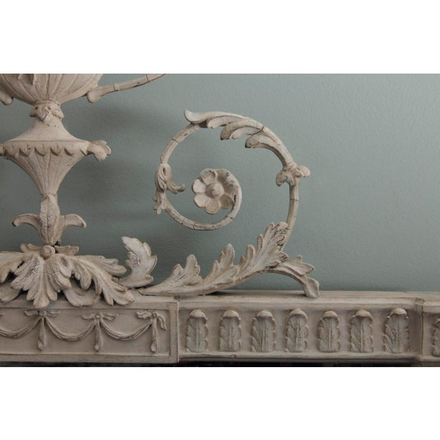 Neoclassical Antique English Neoclassical Scroll Motif Mirror For Sale - Image 3 of 10