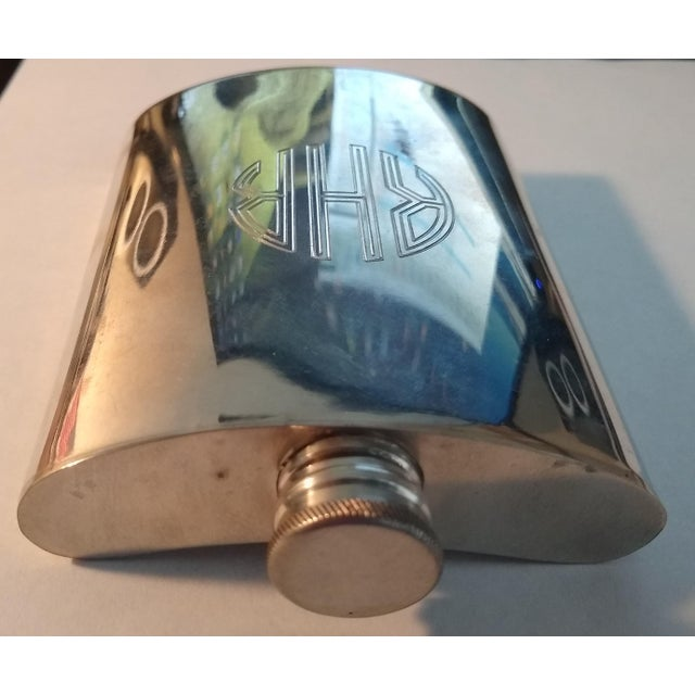 Early 20th Century Vintage English Pewter Flask For Sale - Image 5 of 6