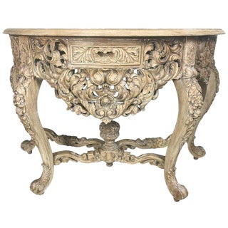 French Rococo Style Console With Centre Drawer For Sale