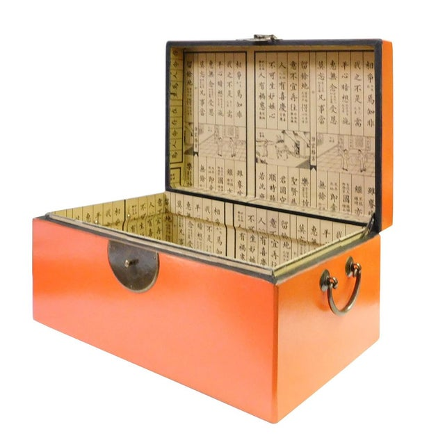 Chinese Orange Rectangular Shape Container Box For Sale - Image 4 of 5