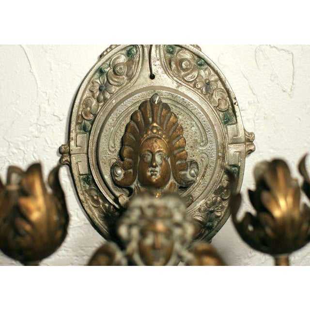 Neoclassical Revival Neoclassical Wall Sconce For Sale - Image 3 of 4