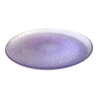 Purple Pressed Glass Serving Plate For Sale