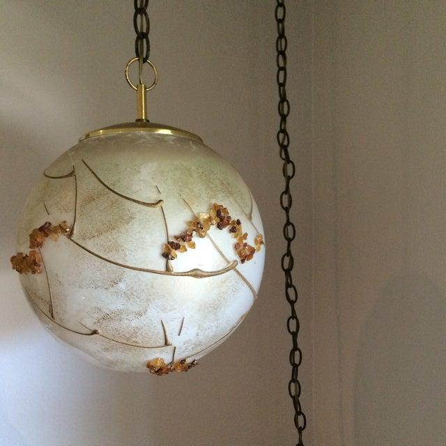 Mid-Century Globe Swag Lamp - Image 2 of 11