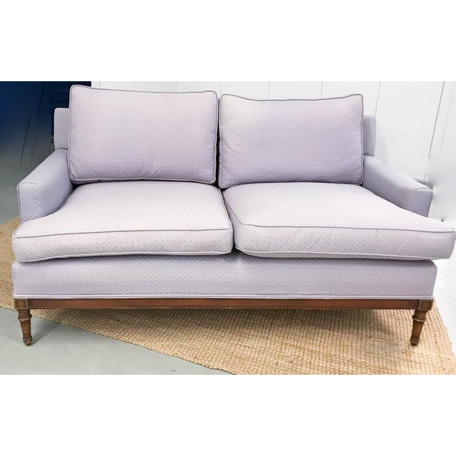 Mid-Century Faux Bamboo Small Sofas - A Pair - Image 2 of 9