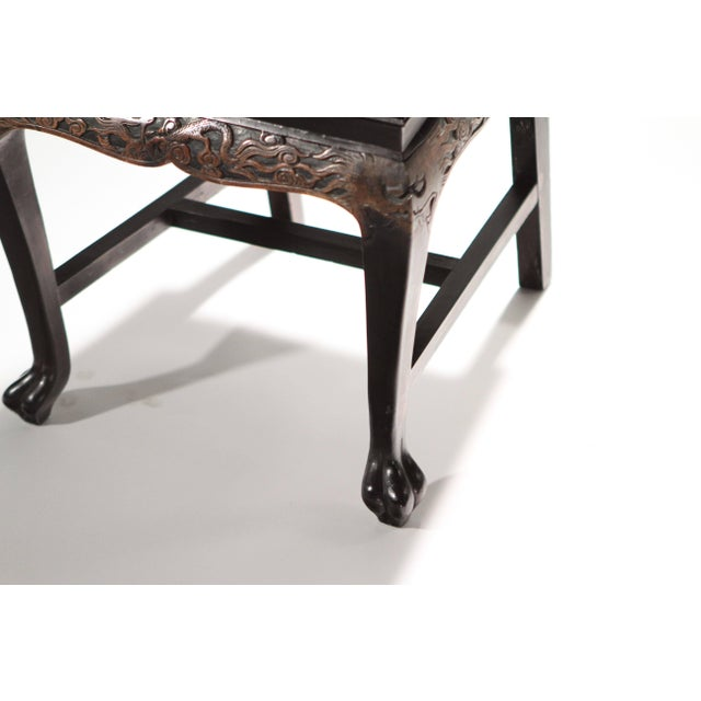 Black French Chinoiserie Neoclassical Chair, 1960s For Sale - Image 8 of 9