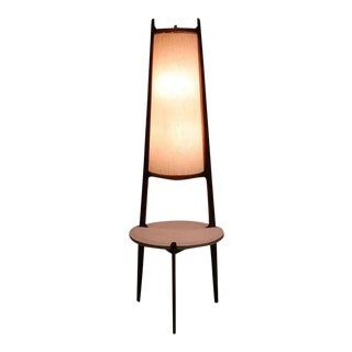 Mid-Century Modern Walnut Floor Lamp For Sale