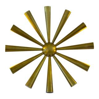 Mid-Century Brass Starburst Sculpture For Sale