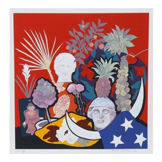 """Hunt Slonem, """"Horns of Plenty"""", Pop Art Screenprint For Sale"""