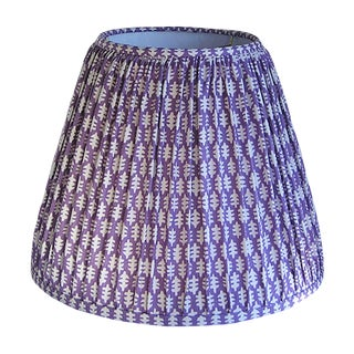 Purple Pleated Lamp Shade For Sale