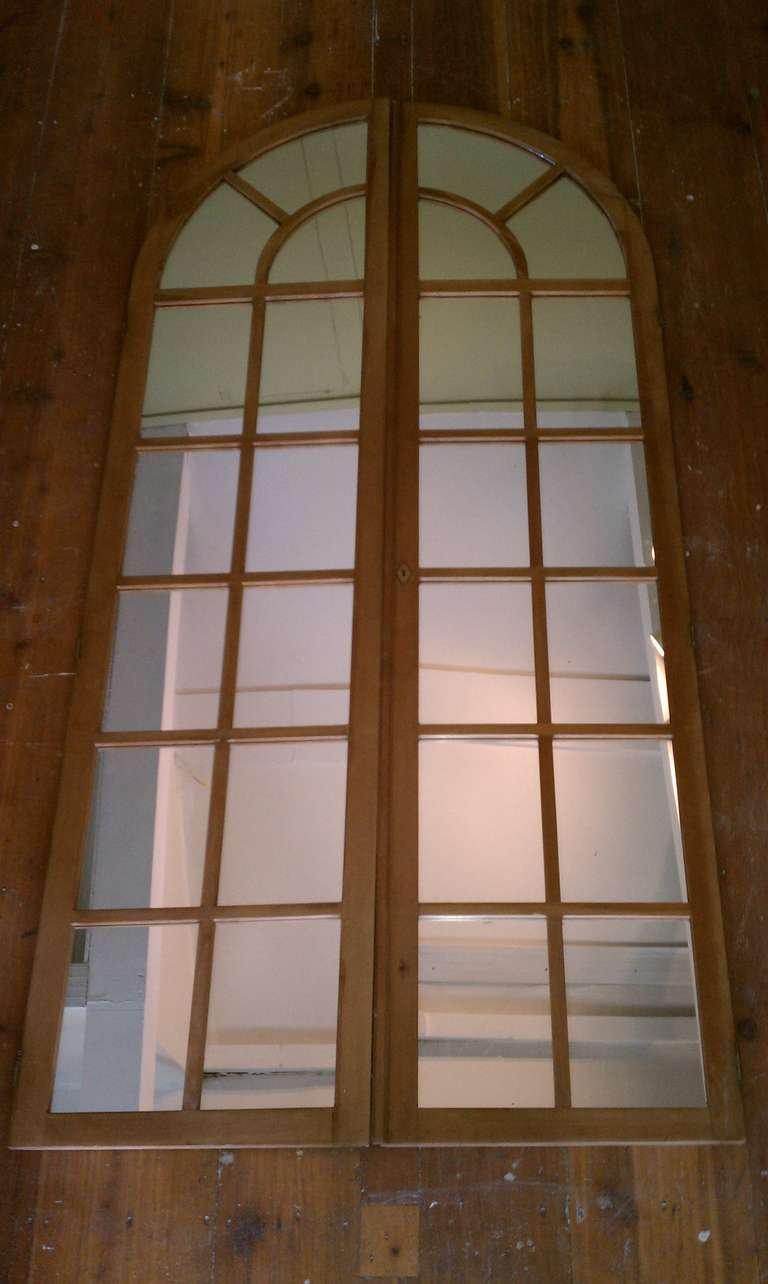 Antique Palladian Mirrored Doors - A Pair - Image 4 of 5  sc 1 st  Chairish & Antique Palladian Mirrored Doors - A Pair   Chairish