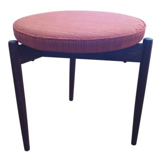 1950s Vintage Jens Risom 3 Legged Stool For Sale