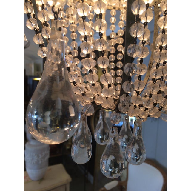 French 3 Tier Crystal Chandelier For Sale - Image 9 of 13