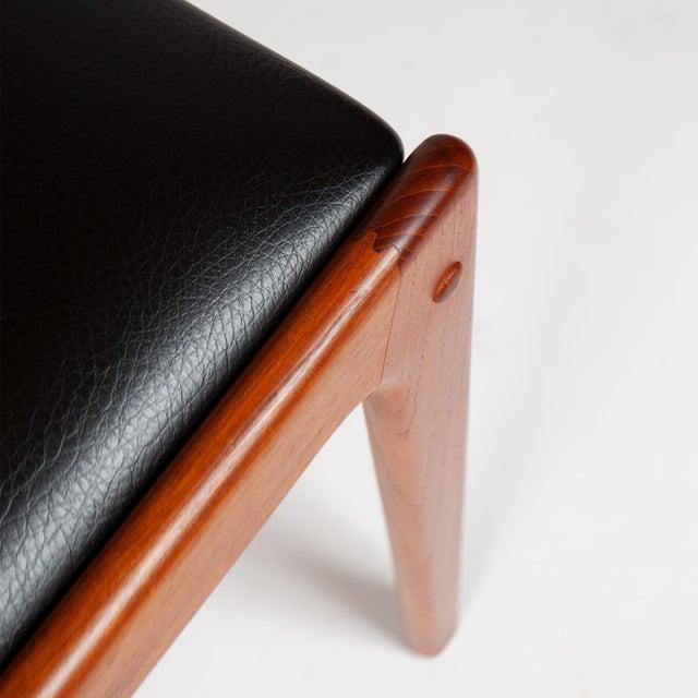 Johannes Andersen Uldum Møbelfabrik Danish Teak Dining Chairs — Set of Four For Sale - Image 9 of 12