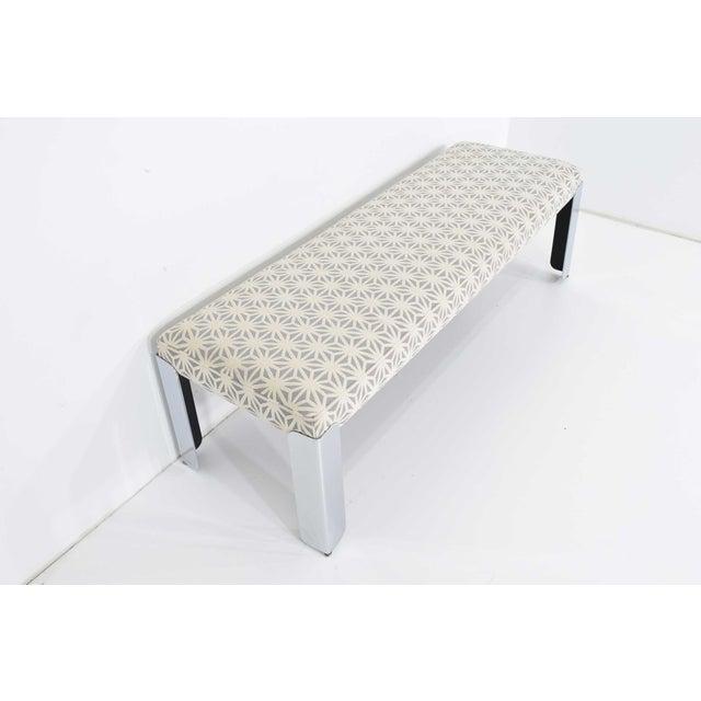 Contemporary Milo Baughman for Thayer Coggin Chrome Legs Bench For Sale - Image 3 of 9
