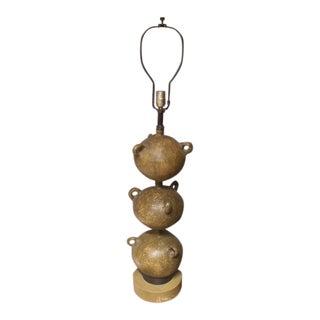 Mid C Studio Ceramic Lamp For Sale