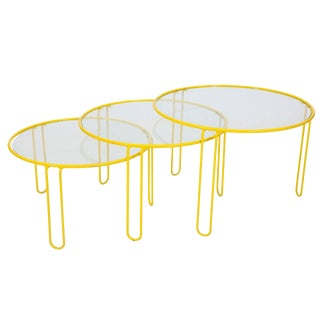 Gigogen Wrought Iron Side Table Set For Sale
