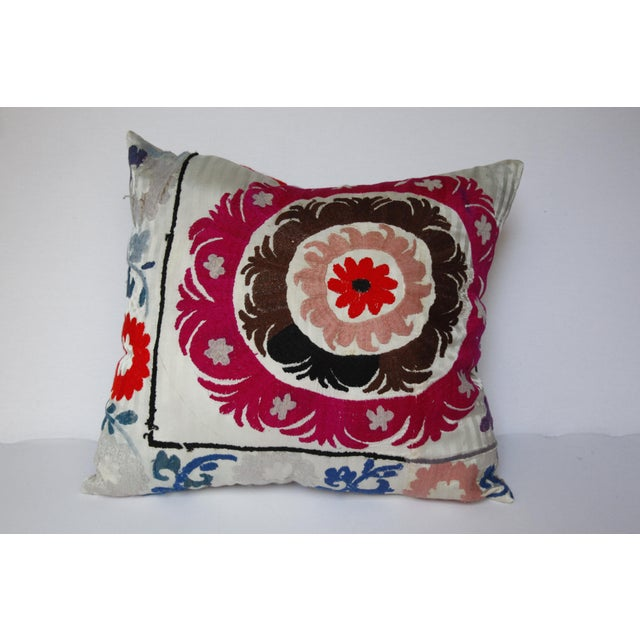 1970s Boho Chic Decorative Needlework Throw Sofa Pillow Cover For Sale - Image 9 of 12