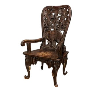 Mid 19th Century Black Forest Elephant Armchair For Sale