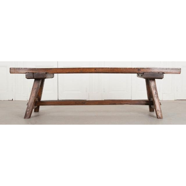 A single solid-oak board was used to make the top of this incredible 19th century English bench. The bench was made in the...