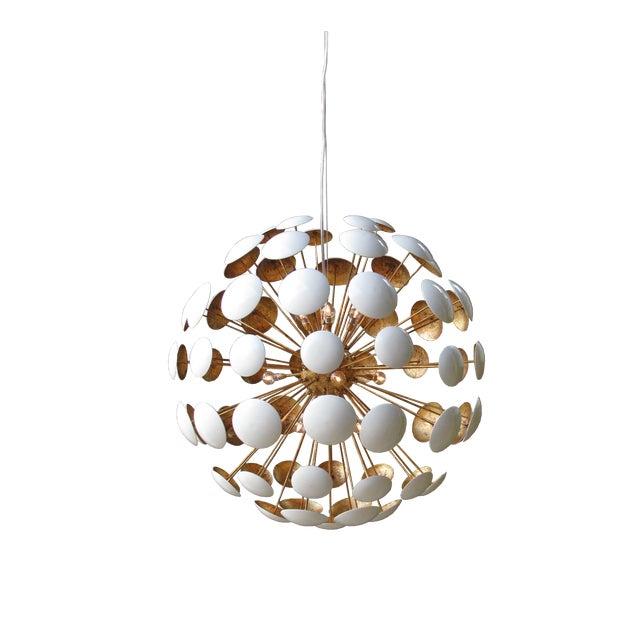 White Mid-Century Modern Sputnik Style Bilbao Pendant Light by Solaria Lighting For Sale - Image 8 of 8
