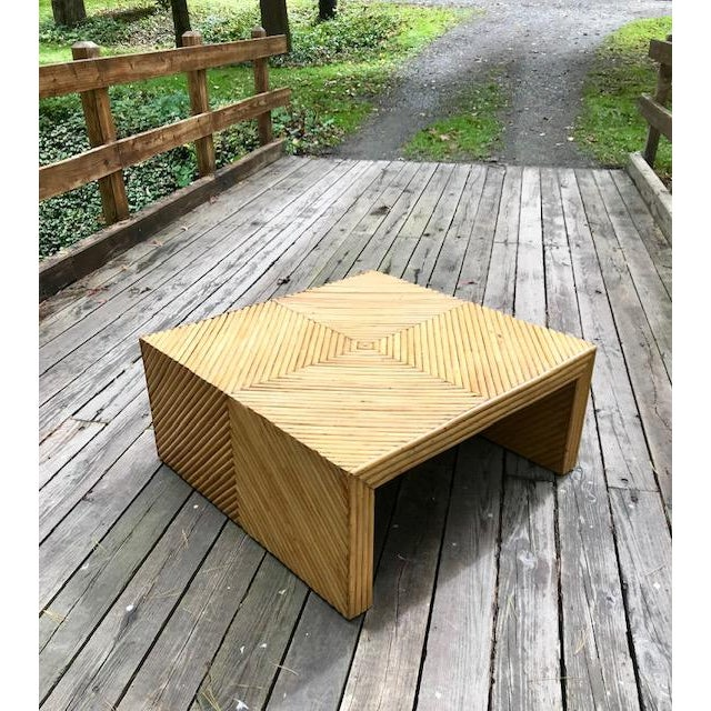 Vintage Split Bamboo Waterfall Coffee Table For Sale - Image 11 of 11