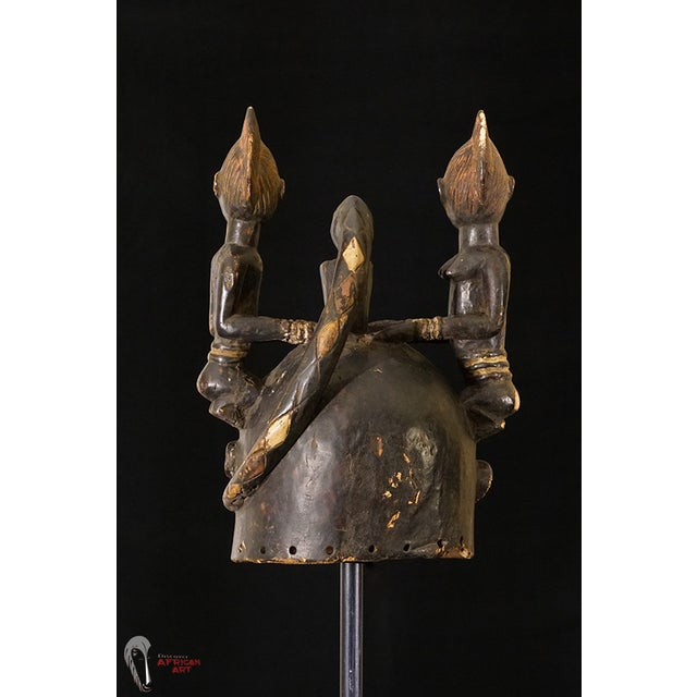 Yoruba African Tribal Helmet Mask - Image 6 of 10