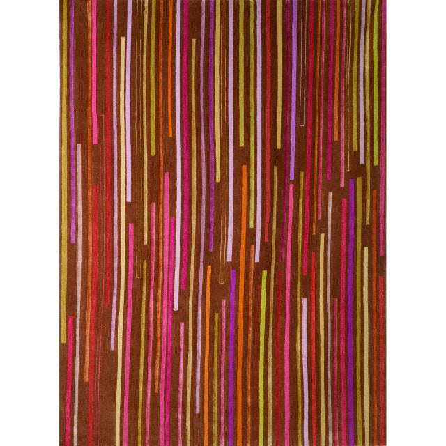 """Contemporary """"Tiny Stripes"""" Rug by Emma Gardner For Sale - Image 3 of 5"""