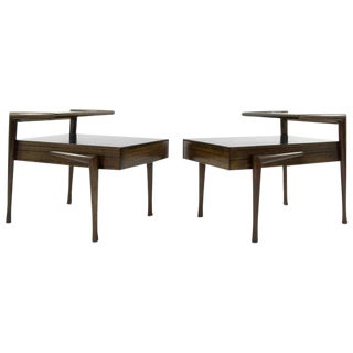 John Keal for Brown Saltman Mahogany Side Tables - a Pair For Sale