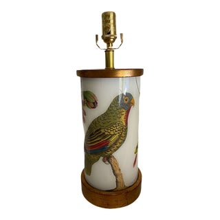 Eden Parrot and Passionflower Table Lamp For Sale