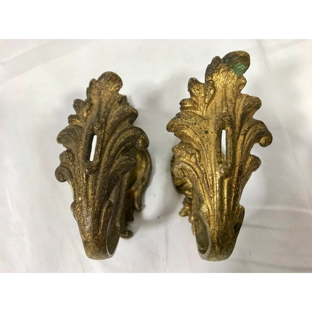 Napoleon III Bronze Dorè Drapery Tie-Backs a Pair For Sale - Image 12 of 12