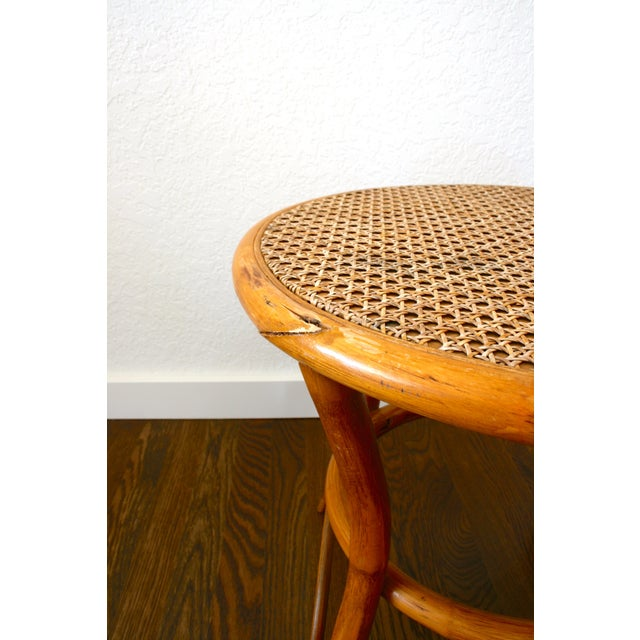 Vintage Rattan and Cane Tables - a Pair For Sale In Seattle - Image 6 of 10