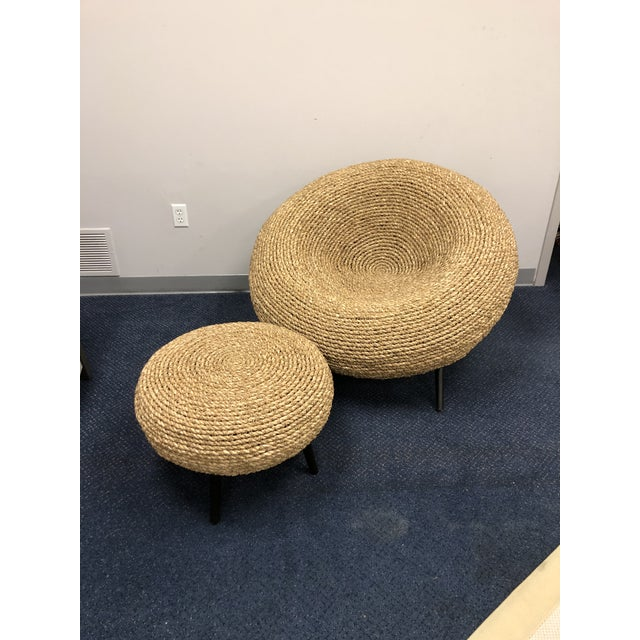 2020s Palecek Paxton Chair & Ottoman Chair For Sale - Image 5 of 5