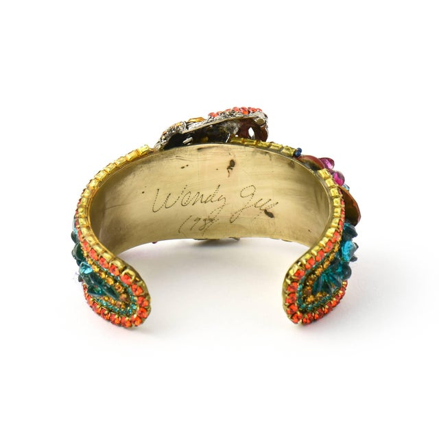 1980s Wendy Gell Parrot Cuff Bracelet For Sale - Image 5 of 9