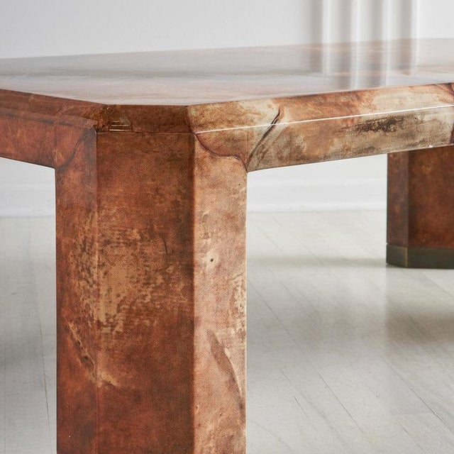 Mid 20th Century Lacquered Goat Skin Coffee Table For Sale - Image 5 of 8