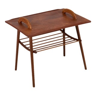 Vintage Danish Teak Accent Table For Sale
