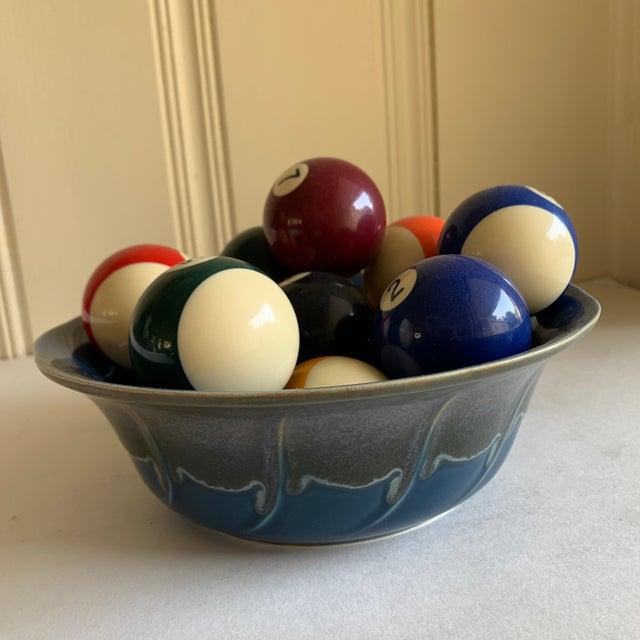 Bowl of Billiard Balls, Pool Balls, Set of Fourteen For Sale - Image 4 of 12