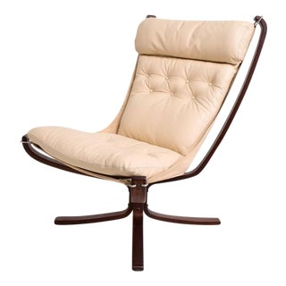 Westnofa Leather Falcon Chair For Sale