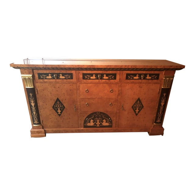 Biedermeier Style Empire Sideboard Credenza Cabinet by Francesco Molon For Sale