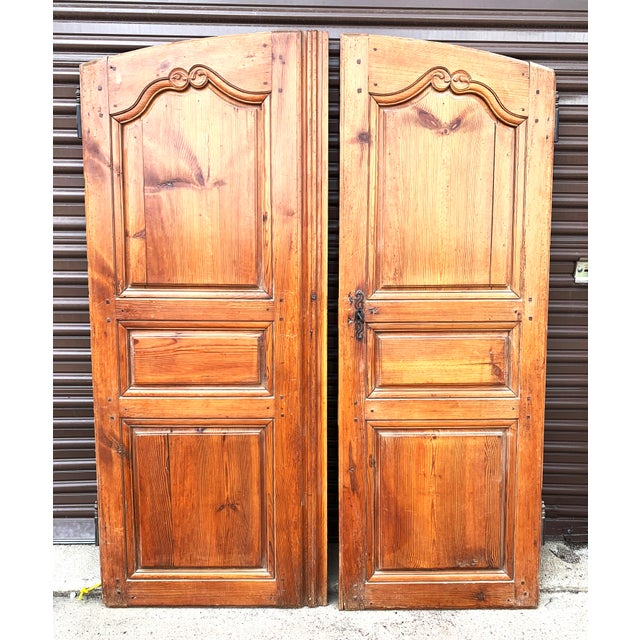 These elegant and refined walnut armoire doors come from France. They once graced a beautiful armoire that was made in the...