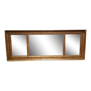 Louis XVI Gilded Rectangular Wall Mirror For Sale