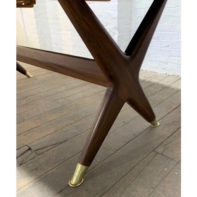 "Metal Fredrik Kayser ""Captains"" Dining Table For Sale - Image 7 of 9"