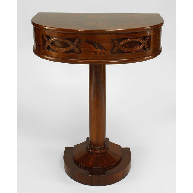 Rosewood 1930s Italian Art Deco Rosewood Console Table For Sale - Image 7 of 7