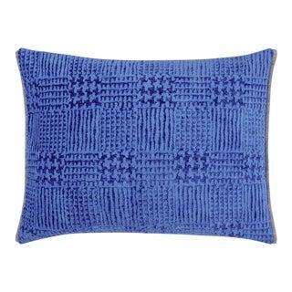 Queluz Cobalt Velvet Cushion For Sale