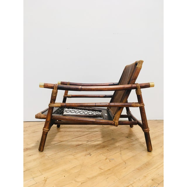 Authentic Signed Ficks Reed Rattan Campaign Chair- 1954 For Sale - Image 13 of 13